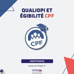 Qualiopi et éligibilité CPF