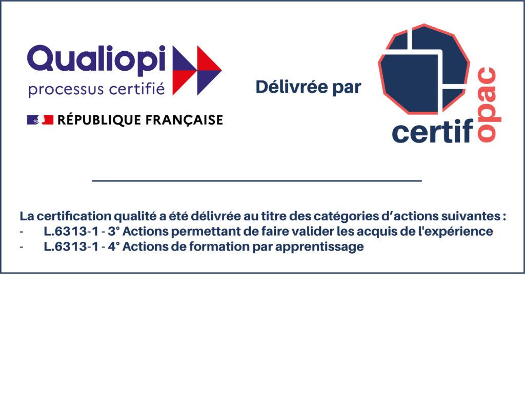 logo certifié qualiopi CFA et VAE