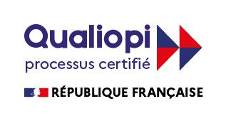 Logo qualiopi avec drapeau de la France 1ere version